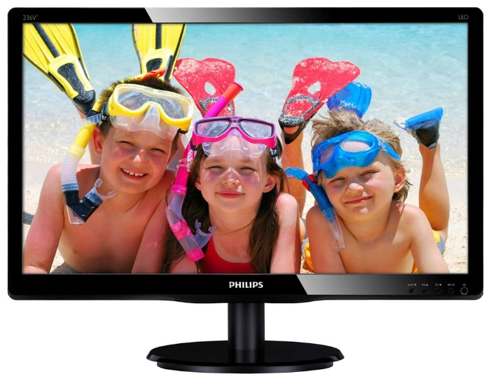 "Фото: Монитор 23"" Philips 236V4LSB/00 Black"