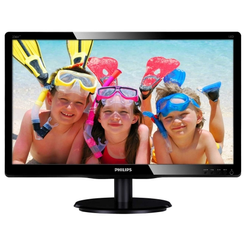 "Фото: Монитор 23"" Philips 236V4LAB/00 Black"