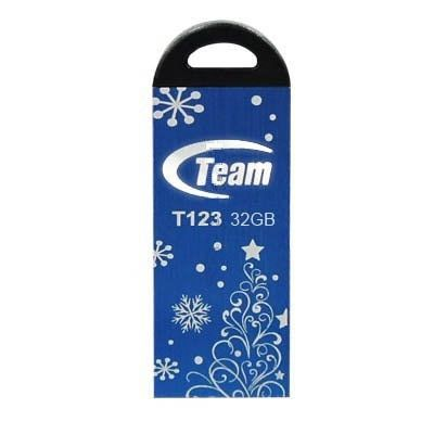 Фото: USB Flash Drive 32 Gb Team T123 Blue  Xmas