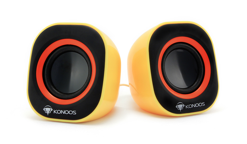 Фото: Колонки 2.0 Konoos KNS-PU10-Yellow (USB), желтые