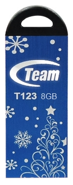 Фото: USB Flash Drive 8 Gb Team T123 Blue Xmas