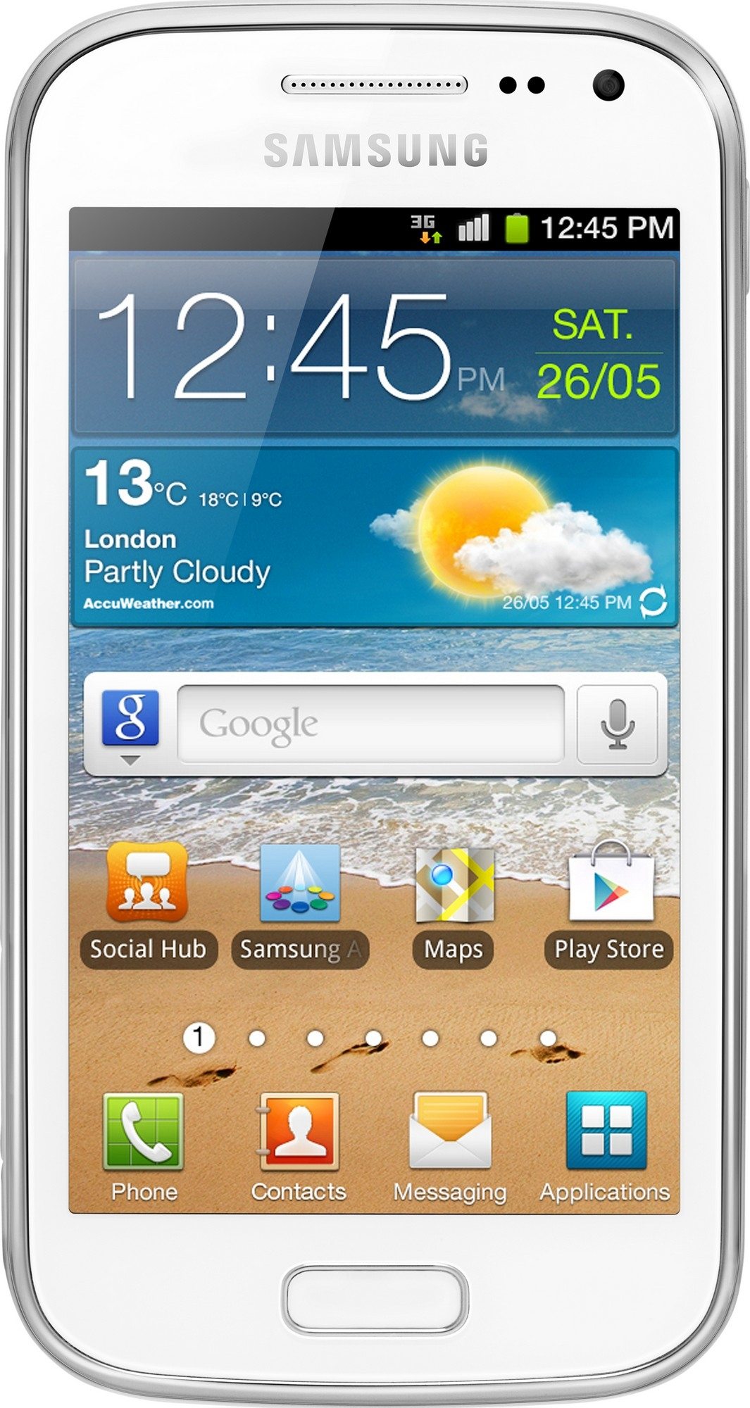 Фото: Смартфон Samsung Galaxy Ace II I8160 White / 1 Sim