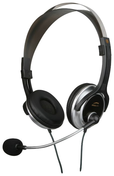 Фото: Наушники SPEED LINK CHRONOS Stereo Headset, black-silver SL-8728-BKSV