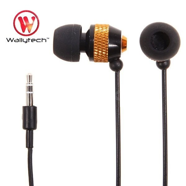 Фото: Наушники Wallytech WEA-081, Black/Orange, Metal, 3.5 mm