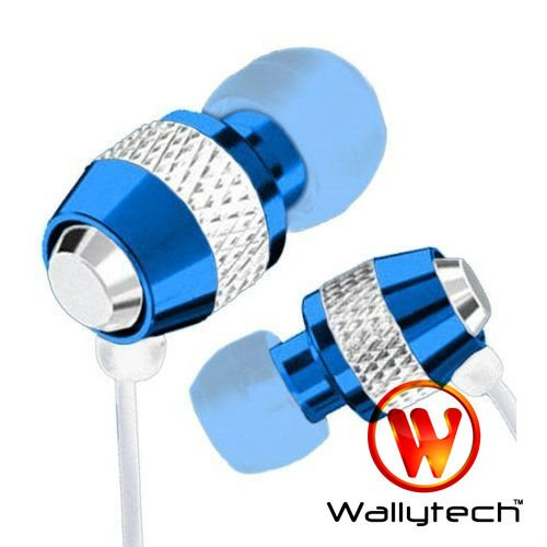 Фото: Наушники Wallytech WEA-081, Blue/White, Metal, 3.5 mm