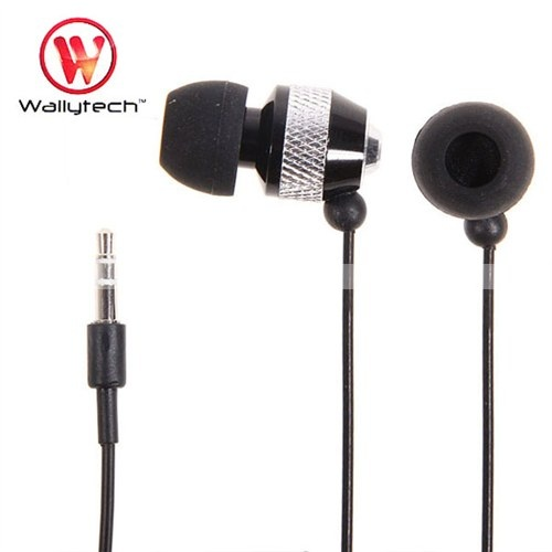 Фото: Наушники Wallytech WEA-081, Black/Silver, Metal, 3.5 mm