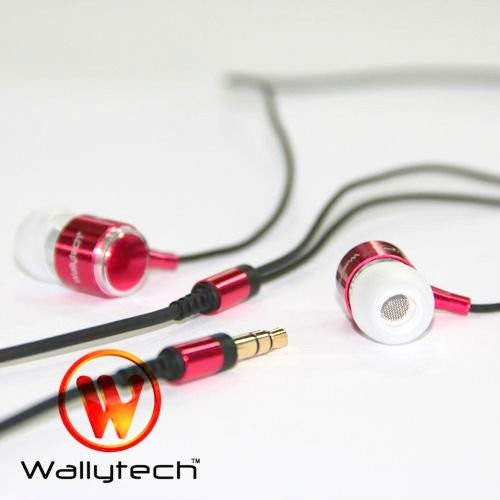 Фото: Наушники Wallytech WEA-085, Red, 3.5 mm