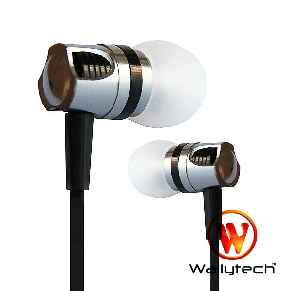 Фото: Наушники Wallytech WEA-109, Silver/Black, Metal, 3.5 mm