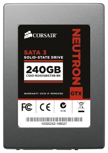 Фото: Жесткий диск SSD 240Gb Corsair  Neutron Series (CSSD-N240GBGTXB-BK) / 2,5""
