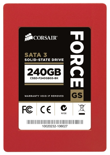 Фото: Жесткий диск SSD 240Gb Corsair Force Series (CSSD-F240GBGS-BK) / 2,5""
