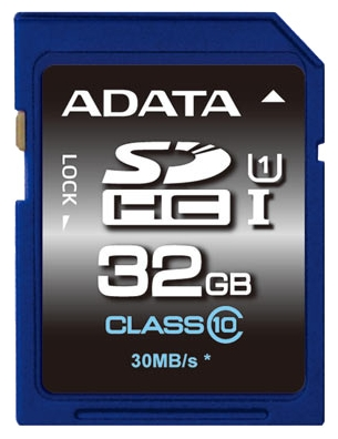 Фото: Карта памяти 32Gb SDHC A-Data UHS-1 Class10 / ASDH32GUICL10-R
