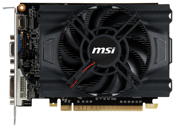 Фото: Видеокарта MSI / GeForce GT640 / 2Gb DDR3 / 128-bit / VGA, DVI, HDMI / 900/1620 MHz / N640-2GD3