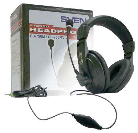 Гарнитура SVEN AP-860MV (GD-750MV) наушники с микрофоном (кожаные ... 3044465748d65