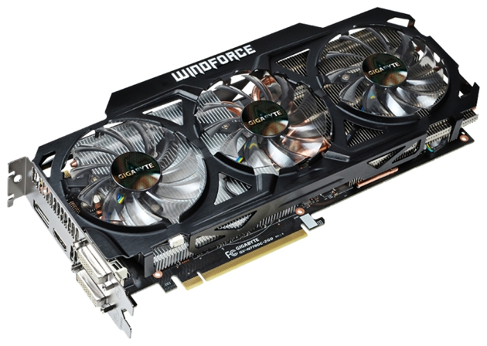 Фото: Видеокарта Gigabyte / GeForce GTX770 / 2Gb DDR5 / 256-bit / 2xDVI, HDMI, DP / 1189/7010MHz / GV-N770OC-2GD