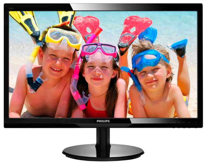 "Фото: Монитор 24"" Philips 246V5LHAB/00 Black"