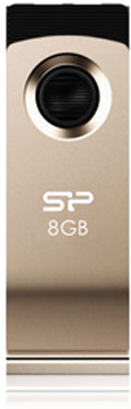 Фото: USB Flash Drive 8Gb Silicon Power  Touch 825 Champagne / 18/6,5Mbps / SP008GBUF2825V1C