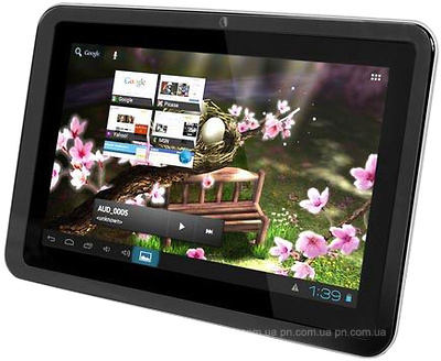 "Фото: Планшетный ПК 7"" GoClever TAB R76.2 White / 4Gb / G-сенсор / емкостный Multi-Touch (1024x600) / RockChip 2928 Cortex A9 1GHz / RAM 512Mb / ROM 4Gb / no GPS / no 3G / Wi-Fi / no BT / 2 Cam (0,3Mp + 0,3Mp) / Android 4.1"