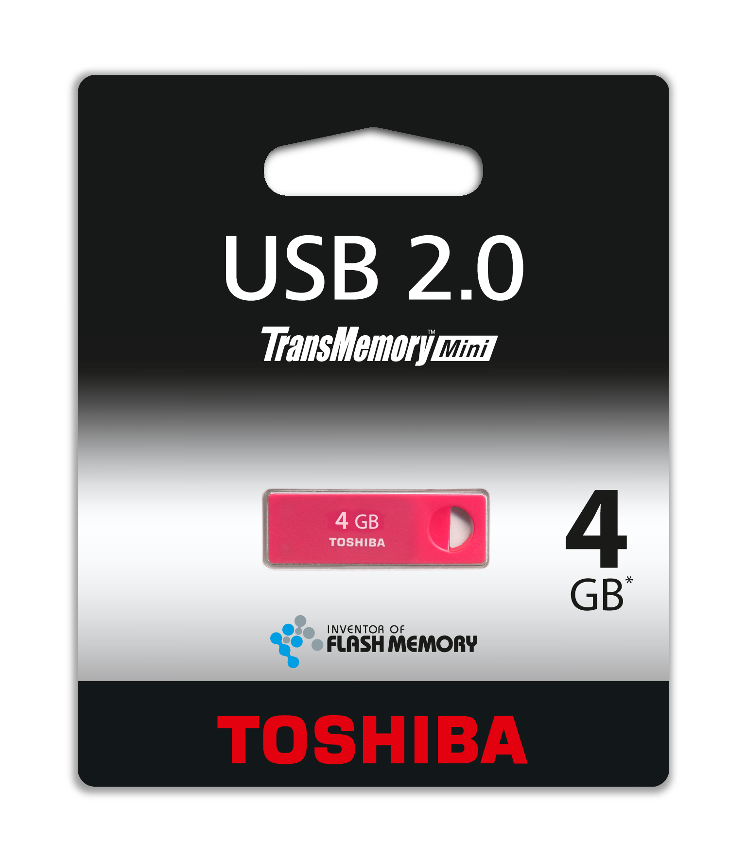 Фото: USB Flash Drive 4Gb Toshiba Enshu Rosered / THNU04ENSRED(BL5
