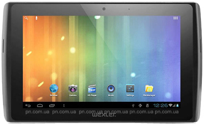 "Фото: Планшетный ПК Wexler TABLET 7I 7"" 8GB WI-FI /BLACK  7"" Multi-touch(1024*600) IPS/Pockchip RK2918(1.2GHz)/1Gb/8Gb SSD/GC800 Graphics/WiFi b/g/n/BT 3.0/Camera 0.3M Front+ 2,.M rear/Android 4.0/Slot- microSD up to 32Gb, FullSize USB, microHDMI - bl"