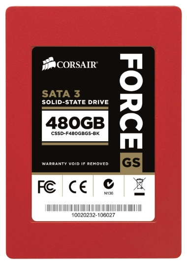 Фото: Жесткий диск SSD 480Gb Corsair Force Series GS (CSSD-F480GBGS-BK) /