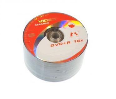 Фото: Диск DVD+R 50 Videx Mamba, 4.7Gb, 16x, Bulk Box