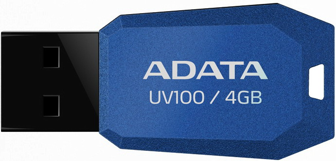 Фото: USB Flash Drive 4Gb A-DATA UV100 Blue / 10/5Mbps / AUV100-4G-RBL