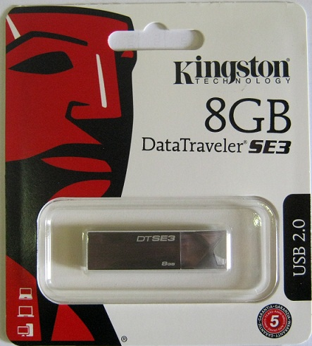 Фото: USB Flash Drive 8 Gb Kingston DTSE3 Silver (KC-U688G-3YS)