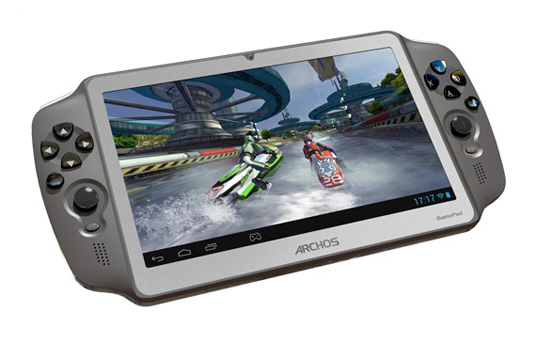"Фото: Планшетный ПК 7"" Archos Gamepad 7'' (1024x600) / Dual-core A9 @ 1.6GHz / Quad-core GPU Mali 400 MP4 / 1 Gb RAM / 8Gb + microSD slot up to 32 Gb / WiFi / miniHDMI / FrontCam / Android 4.1 / Black / 330g"
