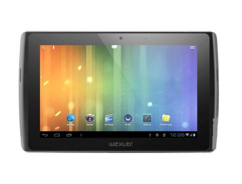 "Фото: Планшетный ПК Wexler TABLET 7I 7"" 8GB WI-FI+3G/BLACK  7"" Multi-touch(1024*600) IPS/Pockchip RK2918(1.2GHz)/1Gb/8Gb SSD/GC800 Graphics/WiFi b/g/n/BT 3.0/3G/Camera 0.3M Front+ 2,.M rear/Android 4.0/Slot- microSD up to 32Gb, FullSize USB, microHDMI"