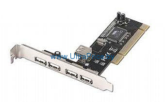 Фото: Контроллер PCI - USB 2.0 Gembird UPC-20-4P PCI 6 high-speed USB 2.0 ports (2 internal and 4 external