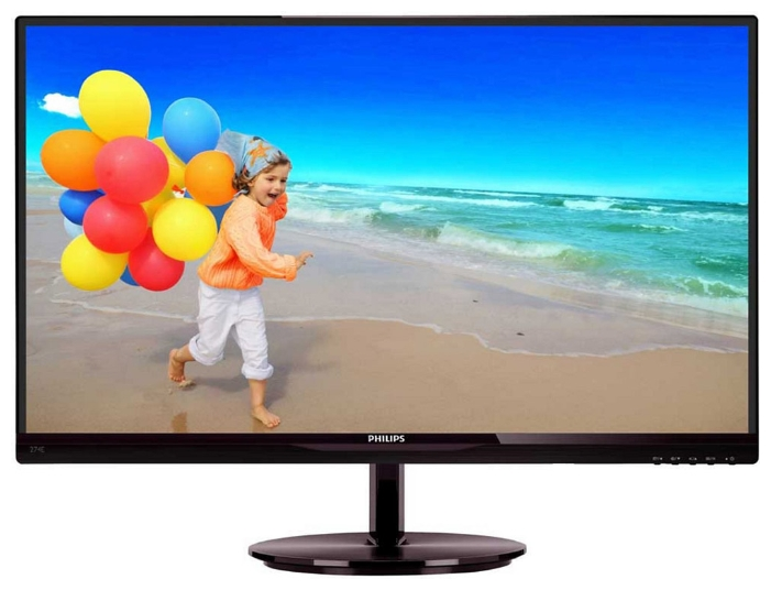 "Фото: Монитор Philips 27"" 274E5QHAB  / LED / AH-IPS  / 16:9 / VGA, DVI / 1920x1080 / черный /"