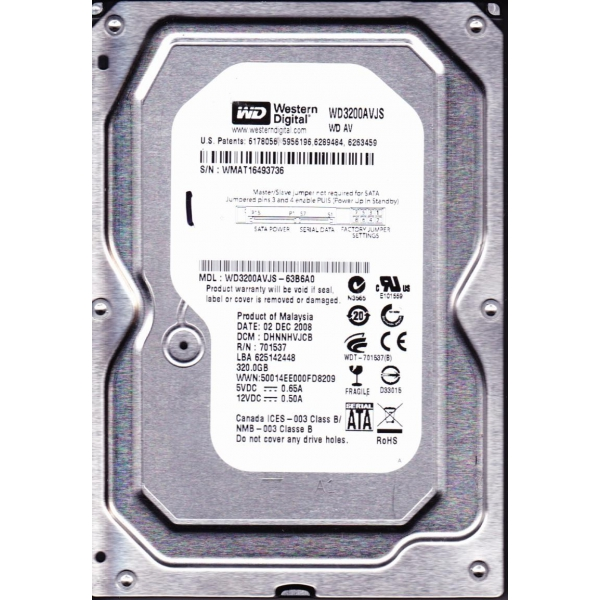 Фото: Жесткий диск 320GB SATA Western Digital 7200 8MB WD3200AVJS 12 мес гарантия