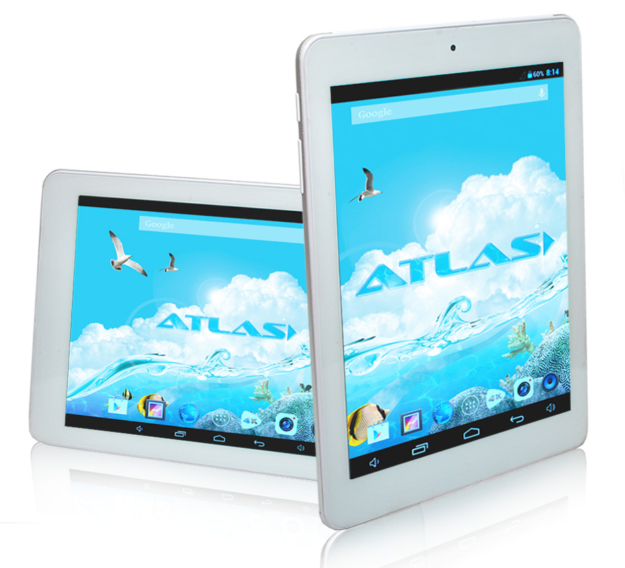 "Фото: Планшетный ПК 8"" Atlas TAB R80 QUANTUM, 1024 х 768,  BoxChip AllWinner A31s Quad-Core 1.2 ГГц Cortex A7, SGX544MP2, 1024 Мб, 8 Гб, Android 4.2, IPS, 2 Мп, 0,3 Мп, 207 x 157 x 10.5 мм, 4000 мАч"