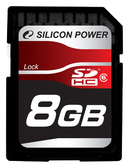 Фото: Карта памяти 8 Gb SDHC, Silicon Power (SP008GBSDH006V10)