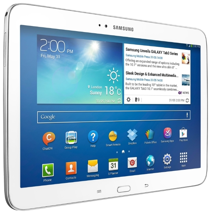 "Фото: Планшетный ПК 10,1"" Samsung Galaxy Tab 3 (GT-P5210ZWASEK) 16Gb / no 3G / White"
