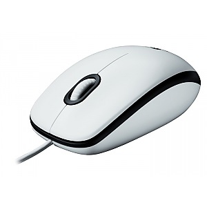 Фото: Мышь Logitech B100 Optical USB Mouse OEM белая (910-003360)