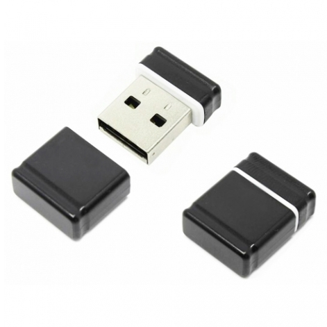 Фото: USB Flash Drive 8GB Qumo Nano Black (QM8GUD-NANO-B) цвет корпуса черный