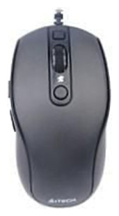 Фото: Мышь A4 Tech D-710FX Optical 600-1600 dpi HOLELESS USB Black.