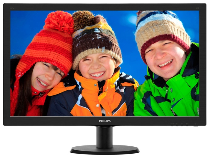 "Фото: Монитор 27"" Philips 273V5LHSB/00 Black"