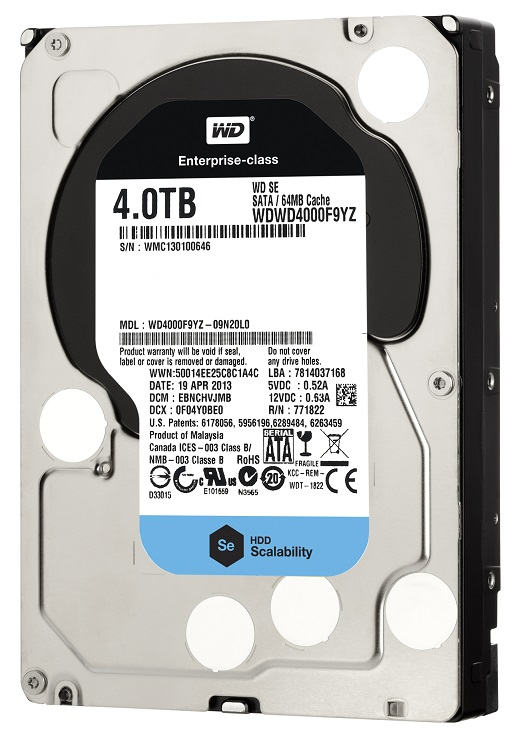 Фото: Жесткий диск HDD 4Tb Western Digital  (WD4000F9YZ) / 3,5