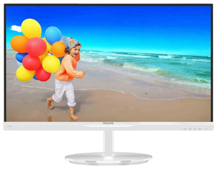 "Фото: Монитор 23"" Philips 234E5QHAW/00 White"