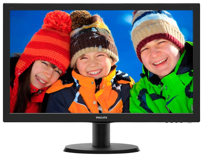 "Фото: Монитор 24"" Philips 243V5LSB/00 Black"