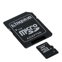 Карта памяти 8Gb microSDHC Kingston Class4 / SD адаптер / SDC4/8GB