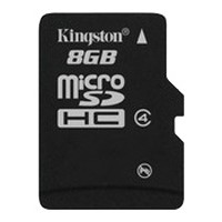 Карта памяти 8Gb microSDHC Kingston Class4 / без адаптера / SDC4/8GBSP